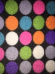 Polar Fleece Anti Pill Washable Soft Fabric- Disco Ball Lights PF GRMLT