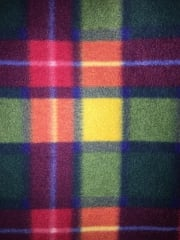 Polar Fleece Anti Pill Washable Soft Fabric- Buchanan Tartan Multi PF GRNOR