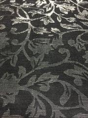 100% Nylon Floral Shimmer Mesh Fabric- Moonlight Black SQ127 BKSLV