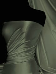 Super Soft Satin Stretch Fabric- Khaki Q710 KH