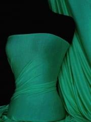 Viscose Cotton Stretch Lycra Fabric- Shamrock Green Q300 SHMGR