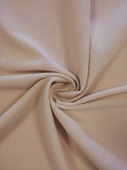Clearance Matt Lycra Gauge Mesh Textured 4 Way Stretch Fabric- Skin SQ141 SKN