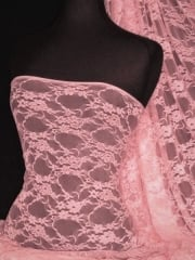 Flower Stretch Lace Fabric- Candy Pink Q137 CNPN
