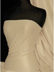 Semi Wet Look Latex Stretch Material- Ivory Cream SQ143 IVCRM