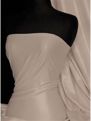Semi Wet Look Latex Stretch Material- White SQ143 WHT