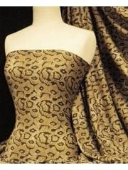Viscose Cotton Stretch Fabric- Brown/ Black Snake Q1105 BKBR