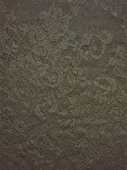 100% Nylon Slight Stretch Lace Fabric- Rose Bunch Black SQ157 BK