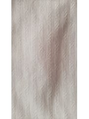 Clearance Polyester Stripe Light Weight Jersey Fabric- Ivory CLPY IV