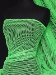 Fishnet (6mm) 4 Way Stretch Material- Lime Green Q319 LMGR