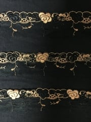 Lace Flower Border Mesh Trim- Black SY160 BKOR