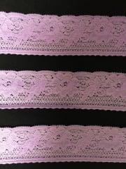 Lace Floral Stretch Trim- Lavender SY182 LVND