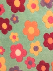 Micro Fleece Ultra Soft Fabric- Daisies Mint/Multi MF MNTMLT