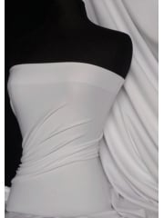 Marcy 4 Way Stretch Poly Lycra Fabric- White Q1336 WHT