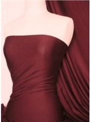 Viscose Cotton Stretch Lycra Fabric- Burgundy Q300 BURG