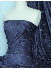 Crushed Velvet/Velour Stretch Material- Navy Q156 NY