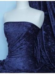 Crushed Velvet/Velour Stretch Material- Dark Navy Q156 DKNY