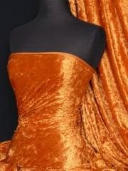 Crushed Velvet/Velour Stretch Material- Orange Q156 OR