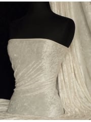 Crushed Velvet/Velour Stretch Material- Vanilla Cream Q156 VCRM