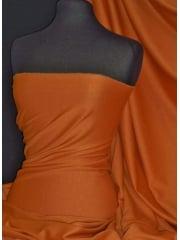 Ponte Double Knit 4 Way Stretch Jersey Fabric- Burnt Orange Q37 BTOR