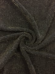 Slinky Shimmer 4 Way Stretch Fabric- Black/Gold Q1183 BKGD