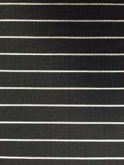 Micro Lycra Jersey 4 Way Stretch Fabric- Black/ Ivory Horizontal Stripes SQ96 BKIV