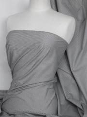 Cotton Poplin Material- Black/White Vertical Stripes Q980 BKWHT