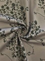 Matt Lycra 4 Way Stretch Lightweight Fabric- Floral Night Grey/Black SQ171 GRBK