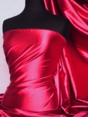 Super Soft Satin Stretch Fabric- Dark Fuchsia Q710 DFUCH