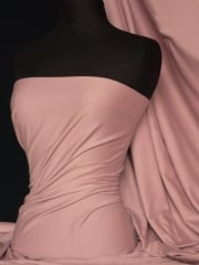 Soft Fine Rib 100% Cotton Knit Material - Dusky Pink Q61 DPN