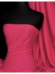 Soft Fine Rib 100% Cotton Knit Material - Hot Pink Q61 HPN