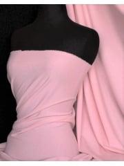 Soft Fine Rib 100% Cotton Knit Material - Milkshake Pink Q61 MLKPN
