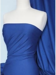 Soft Fine Rib 100% Cotton Knit Material - Royal Blue Q61 RBL