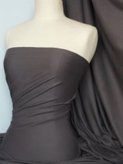 Soft Fine Rib 100% Cotton Knit Material - Charcoal Grey Q61 CHGR