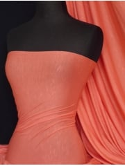 100% SLB Viscose 4 Way Stretch Fabric- Coral Q405 CRL
