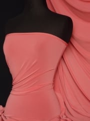 Soft Touch 4 Way Stretch Lycra Fabric- Coral Q36 CRL END OF LINE DISCOUNTS