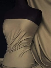 Clearance 100% Cotton Interlock Knit Soft Jersey T-Shirt Fabric- Fawn SQ175 FWN