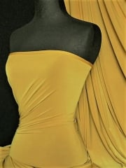 Silk Touch 4 Way Stretch Lycra Fabric- Golden Mustard Q53 GMSTD