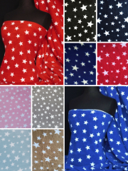 Polar Fleece Anti Pill Washable Soft Fabric- Starry Prints