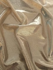 Hologram Foil Stretch Spandex - Liquid Gold Fairy Dust HMLYC68 LQGLD