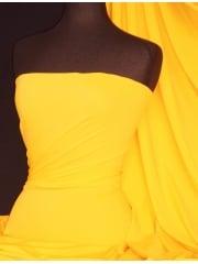 Matt Lycra 4 Way Stretch Fabric- Mid Yellow Q56 MDYL