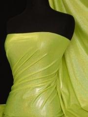 Mystique Hologram Foil Nylon Lycra Stretch Fabric- Flo Yellow Q781 FLYL