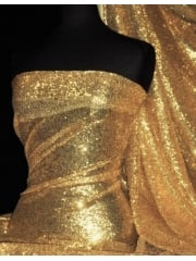 Showtime Fabric All Over Stitched 3mm Sequins - Gold SEQ53 GLD