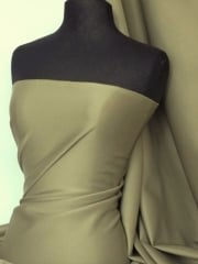Scuba Stretch Poly Lycra Fabric- Olive Q792 OLV