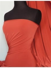 Silk Touch 4 Way Stretch Lycra Fabric- Rust Red Q53 RSTRD