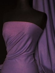 Soft Fine Rib 100% Cotton Knit Material - Aubergine Q61 AUB