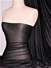 Shimmer Stretch Light Weight Sheer Fabric - Black SQ53 BK