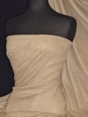 Suedette Suede Look Fabric Material- Taupe Q835 TPE