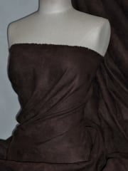 Suedette Suede Look Fabric Material- Mid Brown Q835 MDBR