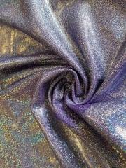 Mystique Hologram Foil Nylon Lycra Stretch Fabric- Purple Q781 PPL