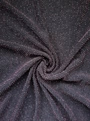 Slinky Shimmer 4 Way Stretch Fabric- Black/Pink Q1183 BKPN